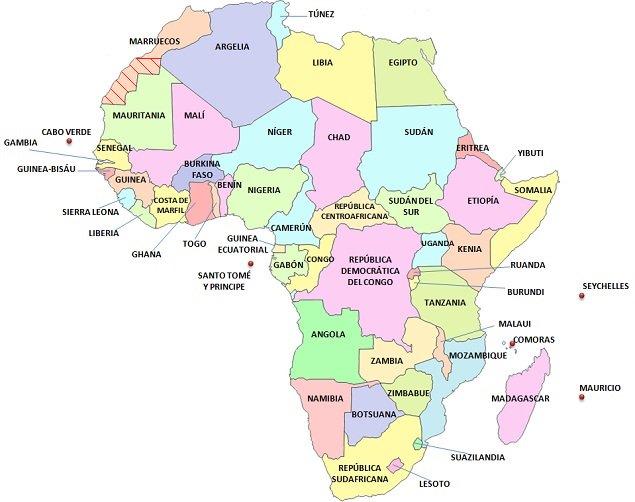 Mapa Geopolítico de África