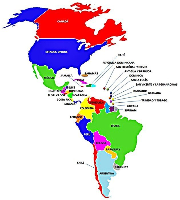 Mapa Geopolítico de América