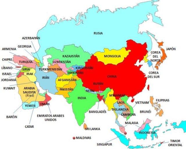 Mapa Geopolítico de Asia